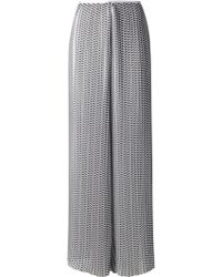 Thakoon Printed Wide Leg Trousers - Lyst