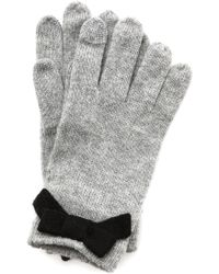 Kate Spade - All The Trimmings Bow Gloves - Black/pebble - Lyst