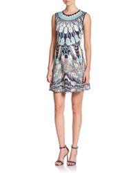 BCBGMAXAZRIA Wilma Printed Cutout Dress - Lyst