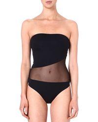 Melissa Odabash Torino Bandeau Swimsuit Black - Lyst