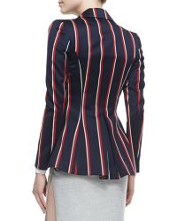 Altuzarra Boldstriped Tailored Blazer Navyredwhite - Lyst