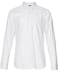 French Connection Cravat Square Print Shirt white - Lyst