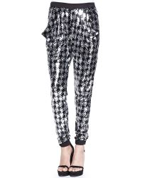 MICHAEL Michael Kors Houndstooth Sequined Pants - Lyst