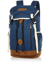 River Island Blue Canvas Rucksack - Lyst