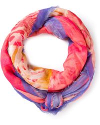 Ferragamo Patterned Scarf - Lyst