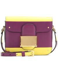 Valentino Rivet Leather Shoulder Bag - Lyst