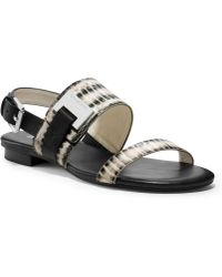 Michael Kors Michael Guiliana Flat Sandals - Lyst