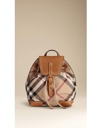 Burberry - Exploded Check Backpack - Lyst