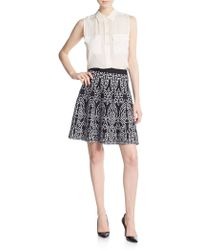 Saks Fifth Avenue Black Label | Printed Knit Skirt | Lyst