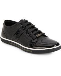 Kenneth Cole Perforated Leather Sneakers - Lyst