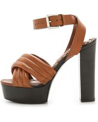 By Malene Birger Farlill Platform Sandals - Brown - Lyst