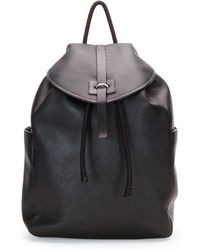 Alexander McQueen Stud-Skull Leather Backpack - Lyst