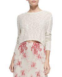 Alice + Olivia Open Cross-back Knit Sweater - Lyst