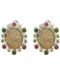 Stephen Dweck Silver Druzy Earrings
