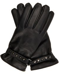 Valentino   Studded Leather Gloves   Lyst