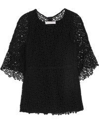 Chloé Guipure Lace and Silk Top - Lyst