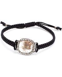 Kimberly Mcdonald 18K Gold, Geode And Diamond Macramé Bracelet white - Lyst