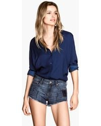 H&M Short Denim Shorts - Lyst