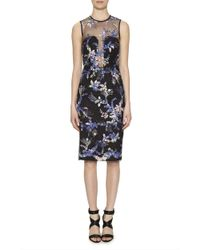 Nicole Miller | Embroidered Flowers Dress | Lyst