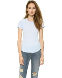 James Perse Sheer Slub Crew Neck Tee Memory - Lyst