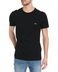 Lacoste Basic Black T-Shirt - Lyst