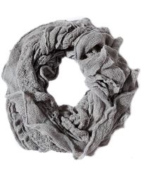 Oasis Gray Ruffle Infinity Scarf Scarf - Lyst