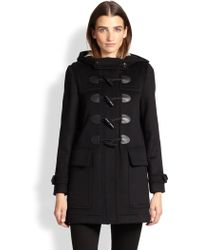 Burberry Brit Finsdale Wool Toggle Coat - Lyst