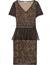 Zac Posen Embroidered Tulle Dress - Lyst