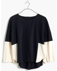 Madewell Colorblock Pieced Tee - Lyst