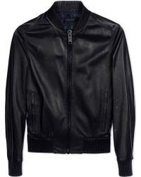 Calvin Klein | Leather Outerwear | Lyst
