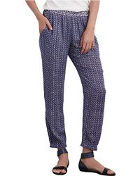 Velvet By Graham & Spencer | Printed Elastic-waist Pants | Lyst