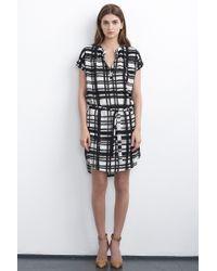 Velvet By Graham & Spencer Amabel Belted Dress gray - Lyst