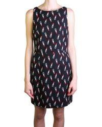 Saint Laurent | Black Sleeveless Lipstick Dress | Lyst