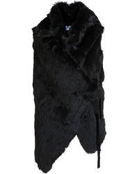 Ann Demeulemeester Rabbit Fur Waistcoat - Lyst