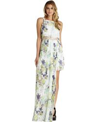 BCBGeneration Pleated Floral Maxi Dress - Lyst