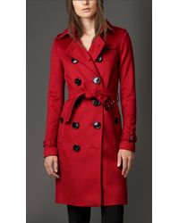 Burberry Cashmere Trench Coat - Lyst
