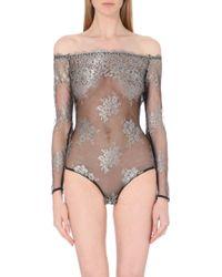 Id Sarrieri Floral Lace Bodysuit - Lyst