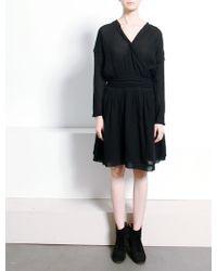 Dress Gallery | Tianna Cotton Wrap Over Dress | Lyst