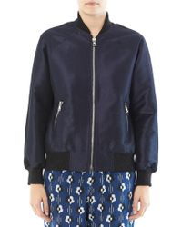 Lulu & Co Dupion Bomber Jacket - Lyst