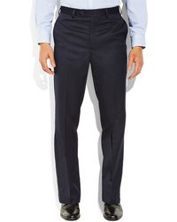 Tommy Hilfiger Navy Flat Front Pants - Lyst