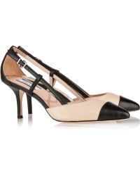 Lucy Choi London Opal Twotone Leather Pumps - Lyst