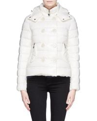 Moncler Double Breasted Hood Down Jacket - Lyst