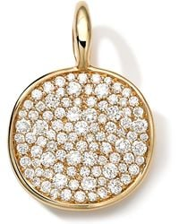 Ippolita 18k Medium Pave Diamond Disc Charm - Lyst