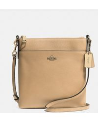 Coach Northsouth Swingpack in Embossed Textured Leather - Lyst