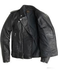 J.Crew Italian Leather Studded Motorcycle Jacket - Lyst