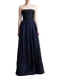 J. Mendel Sequined Strapless Organza Ball Gown - Lyst