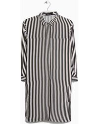 Mango Striped Shirt Dress - Lyst