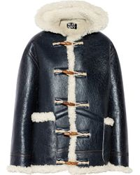NLST - Shearling Coat - Lyst