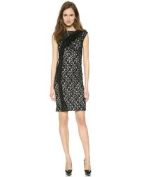 Nina Ricci Sleeveless Dress - Black - Lyst