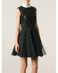 RED Valentino Star Sequinned Dress - Lyst